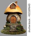 Fairy Mushroom House 3d...