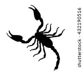 Large Scorpion Silhouette...