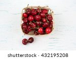 cherry basket  fresh cherries ... | Shutterstock . vector #432195208