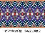 geometric ethnic oriental... | Shutterstock .eps vector #432195850