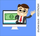 manager character or... | Shutterstock .eps vector #432196564
