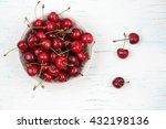 cherries. cherry. cherries in... | Shutterstock . vector #432198136