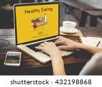 healthy eating food fresh... | Shutterstock . vector #432198868