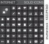 internet vector icons set ...