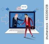 handshake of two business... | Shutterstock .eps vector #432200158