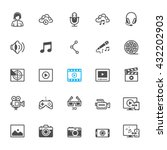 multimedia icons with white... | Shutterstock .eps vector #432202903