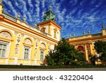 Wilanow palace in Warsaw - stock photo