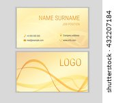 abstract business card design... | Shutterstock .eps vector #432207184