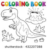 coloring book dinosaur topic 1  ... | Shutterstock .eps vector #432207388
