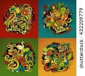 latin american cartoon vector... | Shutterstock .eps vector #432209779