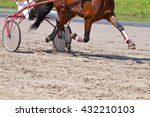 rider on a horse race on... | Shutterstock . vector #432210103