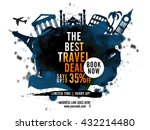 best travel deal with 35  off... | Shutterstock .eps vector #432214480