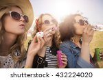 girls feeling so free together  | Shutterstock . vector #432224020