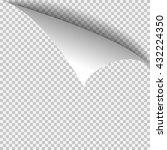 curl corner paper template.... | Shutterstock .eps vector #432224350