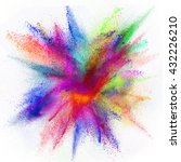 freeze motion of colored dust... | Shutterstock . vector #432226210