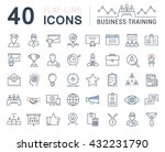 set vector line icons in flat... | Shutterstock .eps vector #432231790