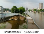 The River Seine In Paris Is At...