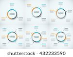 vector circle infographic.... | Shutterstock .eps vector #432233590