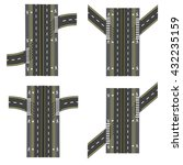 set of different road sections  ...   Shutterstock .eps vector #432235159