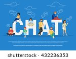 chat concept illustration of... | Shutterstock .eps vector #432236353
