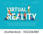 virtual reality concept... | Shutterstock .eps vector #432236380