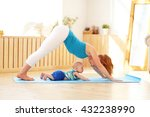 sports mother is engaged in... | Shutterstock . vector #432238990