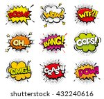 comic sound effects in pop art... | Shutterstock .eps vector #432240616