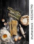 fresh handmade pasta. | Shutterstock . vector #432240790