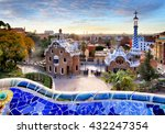 park guell in barcelona  spain. | Shutterstock . vector #432247354