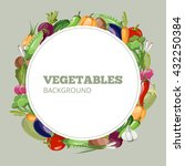 menu with vegetables. vector... | Shutterstock .eps vector #432250384