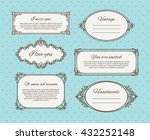 retro frames or vintage frames... | Shutterstock .eps vector #432252148