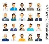 business people flat avatars.... | Shutterstock .eps vector #432252178