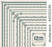 corner borders vector... | Shutterstock .eps vector #432252190