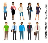 business dressed and casual... | Shutterstock .eps vector #432252253