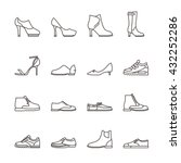 shoes line vector icons....