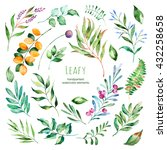 Leafy Collection.22 Handpainte...