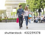 young couple visiting paris | Shutterstock . vector #432259378