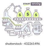 vector illustration of creative ... | Shutterstock .eps vector #432261496