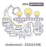 vector illustration of creative ... | Shutterstock .eps vector #432261508