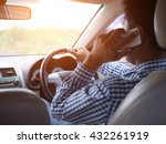 cell phone use while driving | Shutterstock . vector #432261919