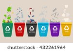 recycle garbage bins.... | Shutterstock .eps vector #432261964