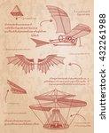 leonardo da vinci sketch.... | Shutterstock .eps vector #432261988