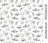 western hand draw sketch vector ... | Shutterstock .eps vector #432266128