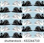 vector seamless gentle romantic ... | Shutterstock .eps vector #432266710