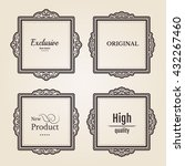 exclusive decor elements or... | Shutterstock .eps vector #432267460