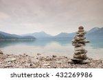 Balanced Stone Pyramide On...