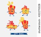 gift boxes character. vector... | Shutterstock .eps vector #432270328