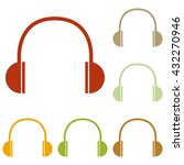 headphones sign illustration