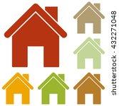 home silhouette illustration   Shutterstock .eps vector #432271048