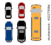 set of five cars. coupe  sedan  ... | Shutterstock .eps vector #432275086